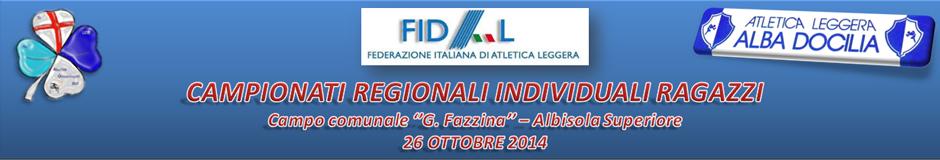 Campionati Regionali individuali Ragazzi/e