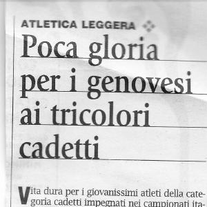 Campionati Italiani Individuali e per regioni Cadetti/e