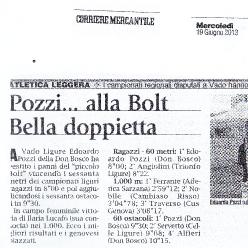 16/06/2013 - Pozzi alla Bolt ... bella doppietta